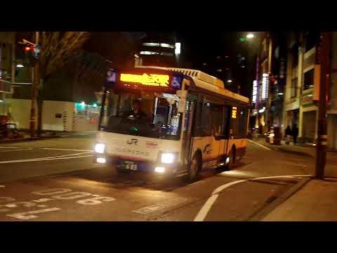 西日本JRバス 新型エルガミオ 武蔵ヶ辻・近江町市場付近走行