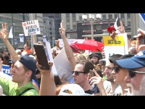 'Lesser of Two Evils' Argument Not Resonating with DNC Protestors