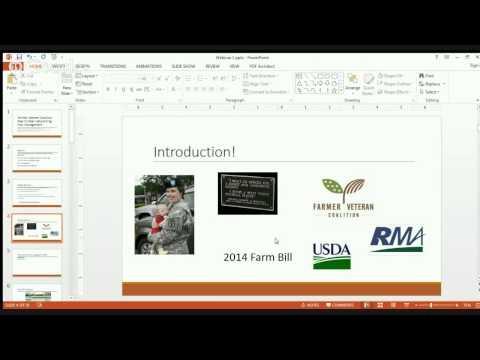 Farmer Veteran Coalition Peer to Peer Networking- Risk Management