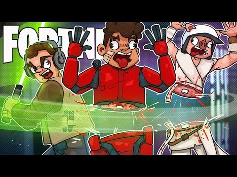 Dr Lupo, Timthetatman, NickMercs and CourageJD KILLED ME WITH LIGHTSABERS - Fortnite Battle Royale!