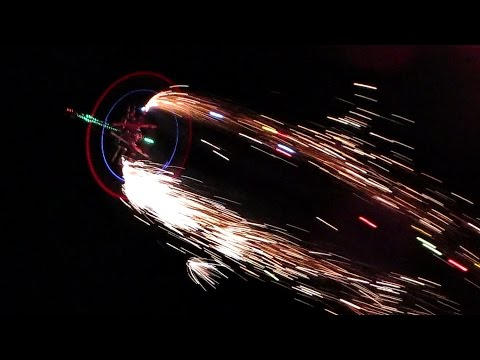 MEGA NIGHT-FLIGHT RC HELICOPTER SHOW FROM CHRISTOPH HEMMING / Jetpower Messe 2015