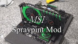 spray painting   cpu cooler motherboard graphics card   green