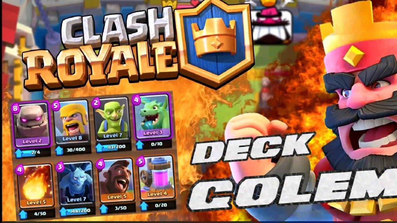 Golem deck arena 6 7 clash royale youtube for Clash royal deck arene 7