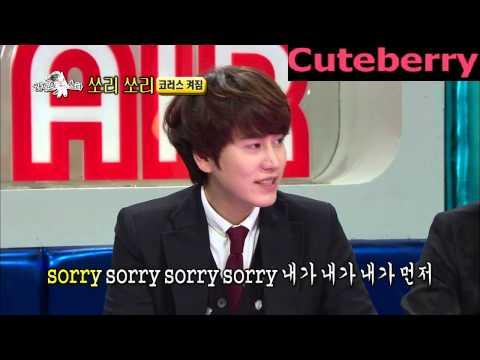 130306 Kyuhyun sings Sorry, sorry with chorus of Muzie