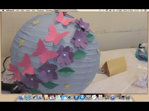 Decorate Paper Lantern for the Kid's Room. DIY.