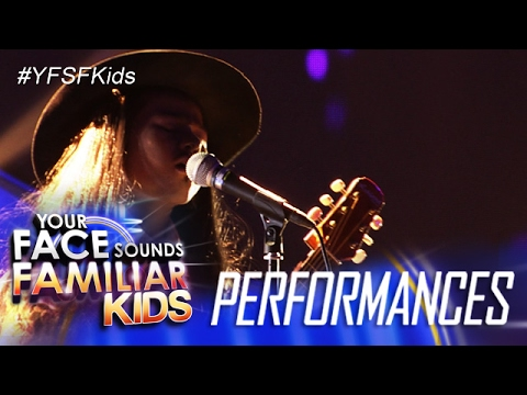 Your Face Sounds Familiar Kids: Lyca Gairanod as Freddie Aguilar - Anak
