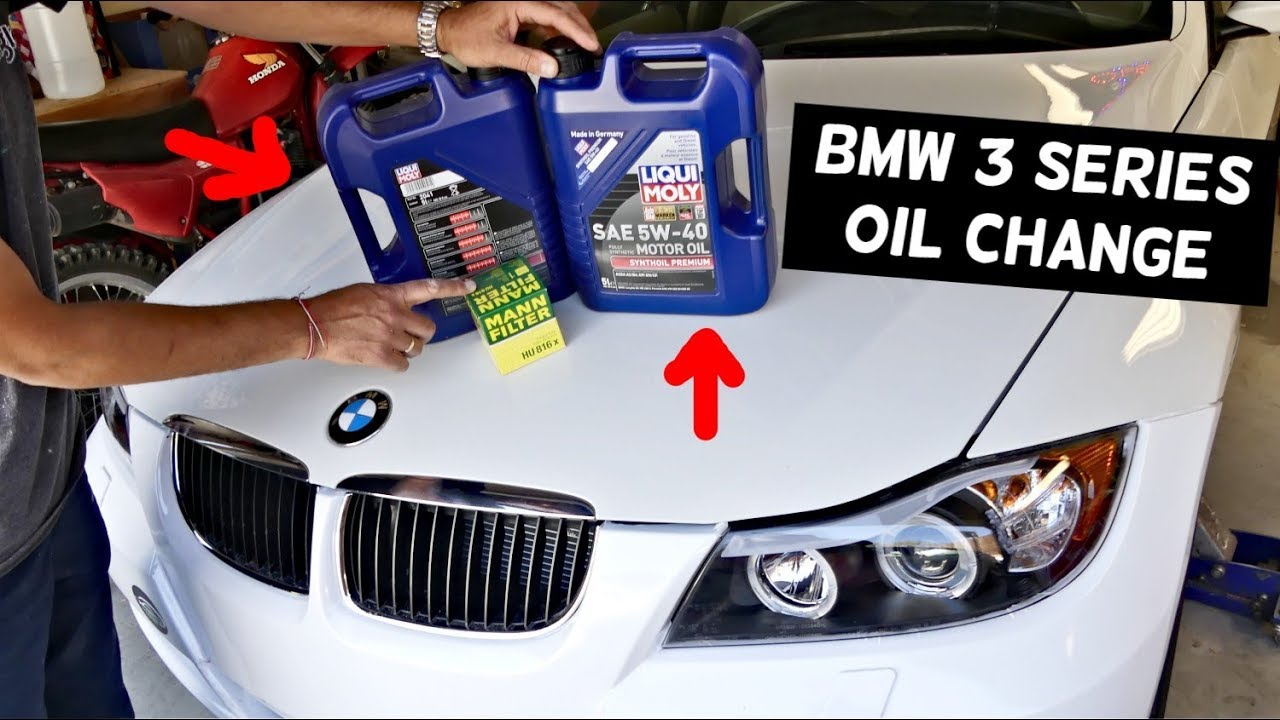Bmw E90 Oil Change E91 E92 E93 325i 328i 330i 325xi 328xi Youtube