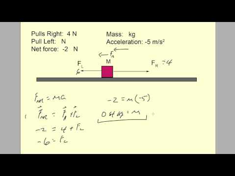 Net force (F = ma) examples, dynamics 0