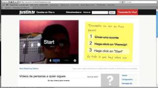 Como iniciar Sesion y Grabar en Justin TV CICBCS