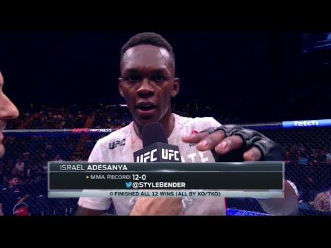 UFC 221: Israel Adesanya Octagon Interview