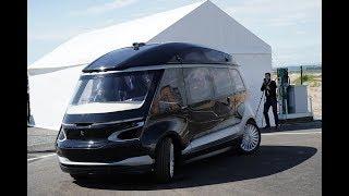 Прототип беспилотного электробуса КАМАЗ презентовали в Казани