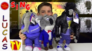 Sing Movie Characters Stuffed Animals Plush Toys Review, Buster, Meena and Johnny