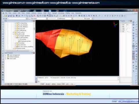 3DMINE - MINING SOFTWARE TUTORIAL SOLID