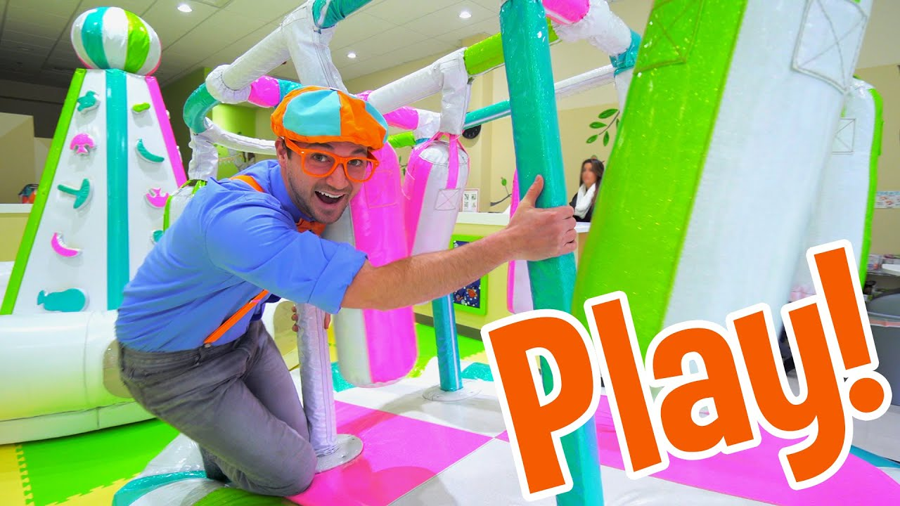 Blippi Visits an Indoor Play Place (Giggle Jungle) | Learning Colors + More With Blippi