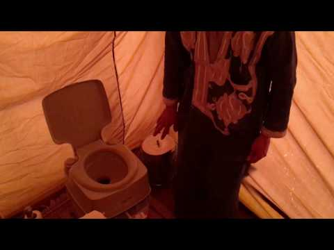 The toilet - Erg Chigaga Luxury Desert Camp Morocco