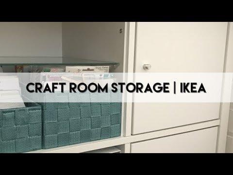Craft Room Storage Ikea Kallax Youtube