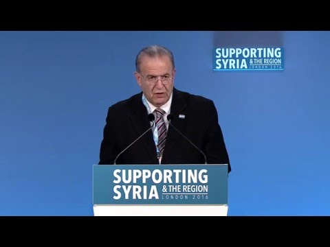 Ioannis Kasoulides, Minister for Foreign Affairs, Cyprus, speaking at Supporting Syria & the Region