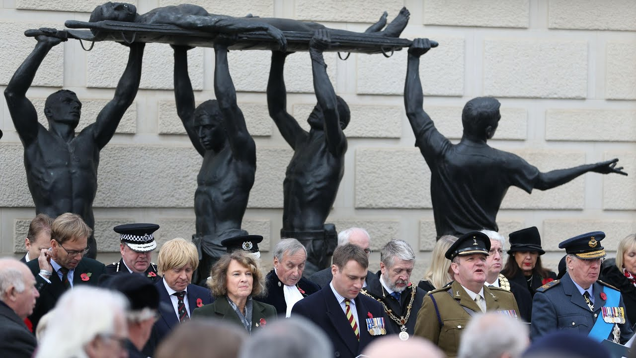 Nation falls silent for 100th Armistice Day