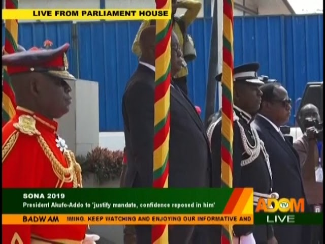 #SONA2019: President Akufo-Addo Arrives In Parliament - Badwam on Adom TV (21-2-19)