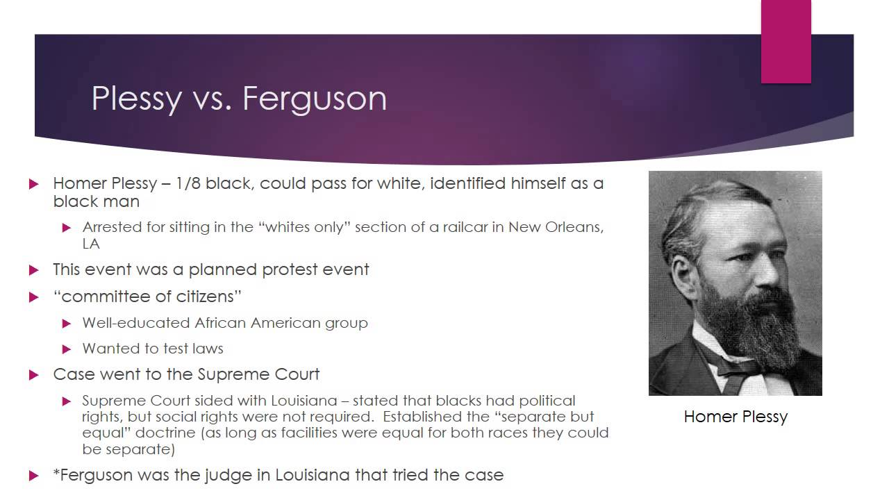 plessy vs ferguson separate but equal