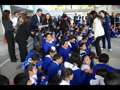 Mensaje del secretario Aurelio Nu�o - Visita a la escuela primaria Manuel L�pez Cotilla