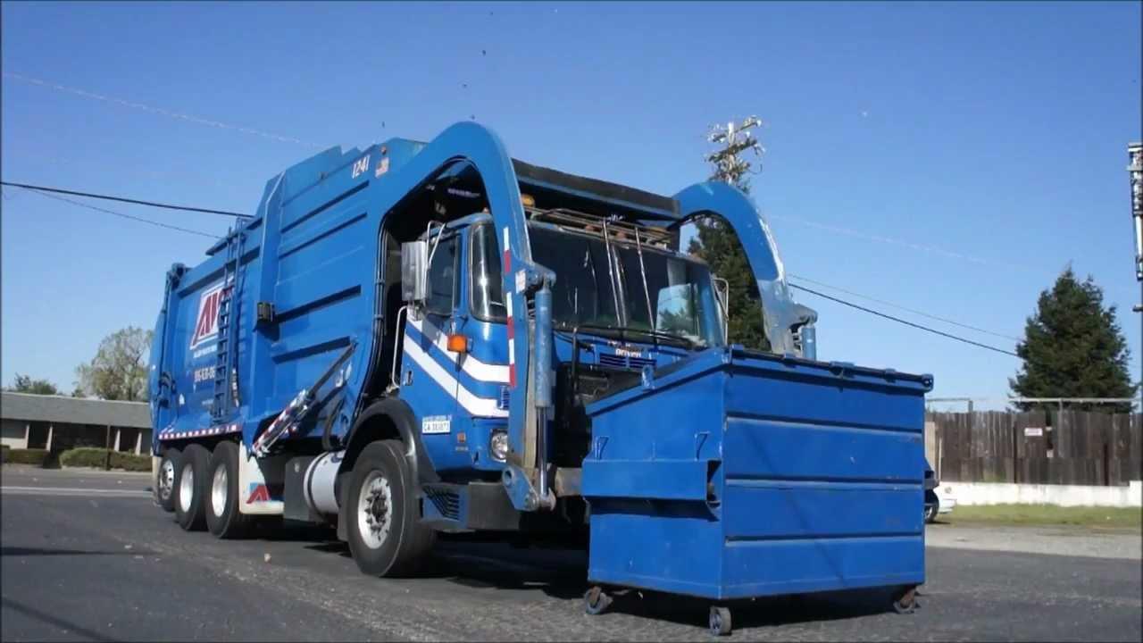 Garbage Truck Front Loader Youtube