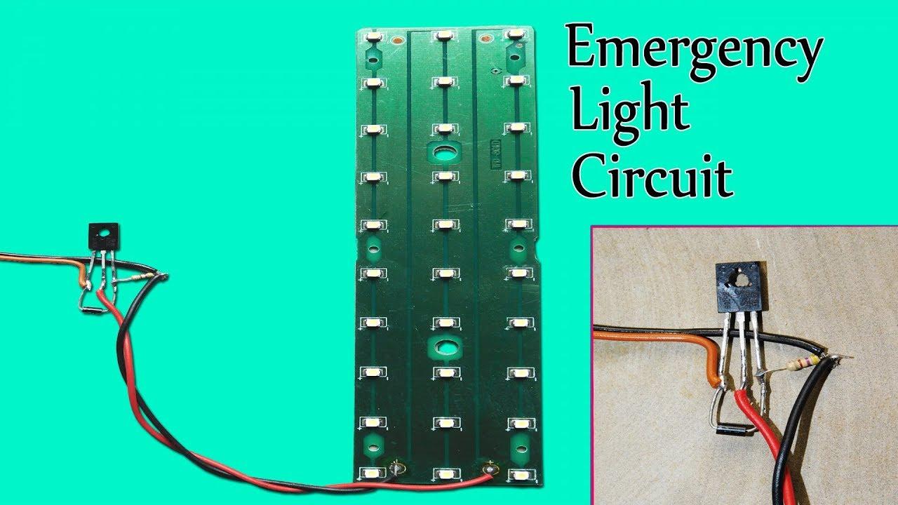 circuit diagram of 6v emergency light simple automatic emergency led light circuit youtube  automatic emergency led light circuit