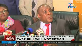 NLC Chair Swazuri says disputed land compensation was legal