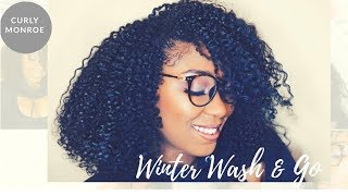 Winter Wash & Go with OGX For Texlaxed Hair| Curly Monroe