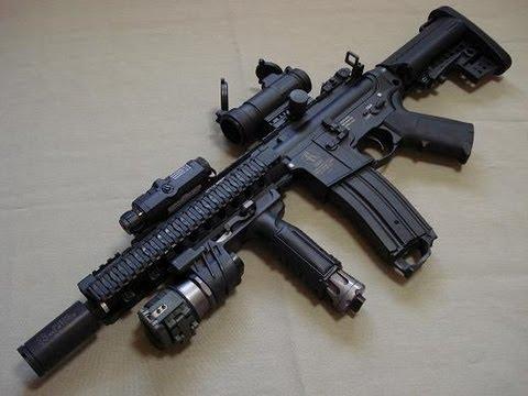 Amazon.com : BBTac M4 M16 Replica Airsoft Gun M83 A2 Electric ...