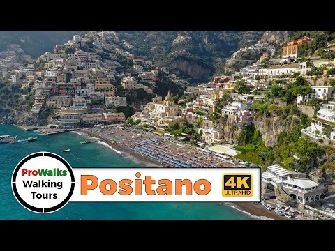 Positano, Italy Walking Tour in 4K