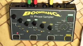 Boomerang III Phrase Sampler Demo, Part 2 - Play Styles And Functions