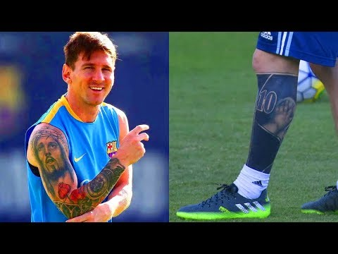Lionel Messis Tattoos Meanings Youtube