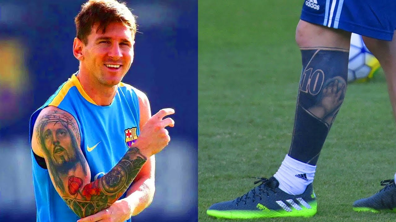 Lionel Messi tattoo, the Argentinian number 10 from Rosario, Argentina