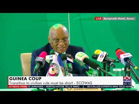 ECOWAS: Transition to civilian rule must be short - Joy News Prime (16-9-21)