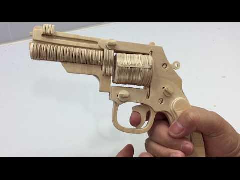 DIY Miniature Gun Revolver ~ 3D Wooden Puzzle