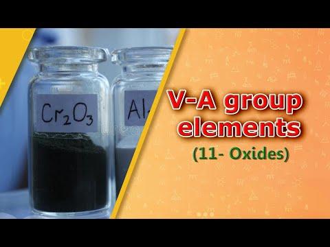V-A group elements(11 -Oxides)
