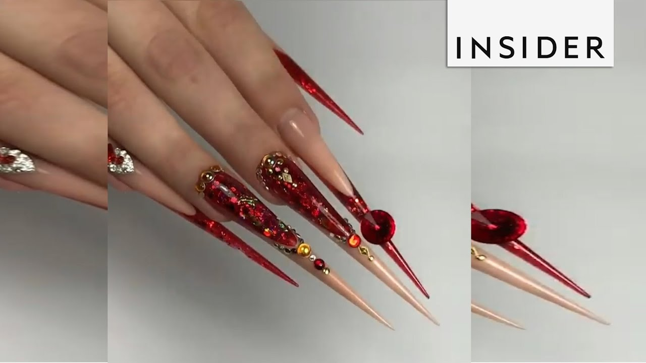 This artist is the master of stiletto nails - YouTube