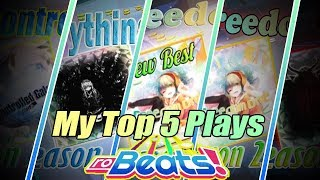 Roblox Robeats | My Top 5 Plays Rank A+/Almost FC