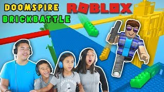 WE'RE BACK!!! DOOMSPIRE BRICKBATTLE | ROBLOX GAMEPLAY | Minecraft Ethan, Emma, Aubrey & Aaron