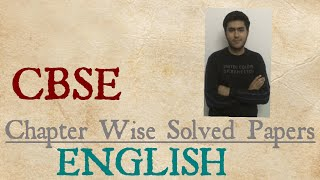 CBSE Chapter wise solved papers of ENGLISH BOOK REVIEW By CBR