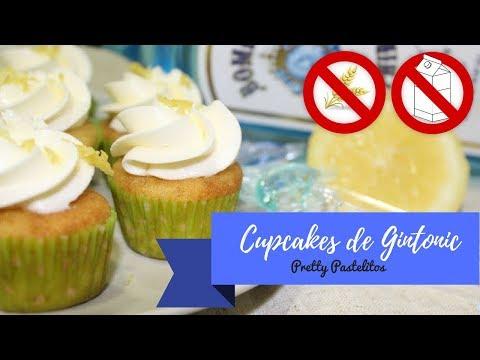 Cupcakes de gintonic (sin gluten ni lactosa)
