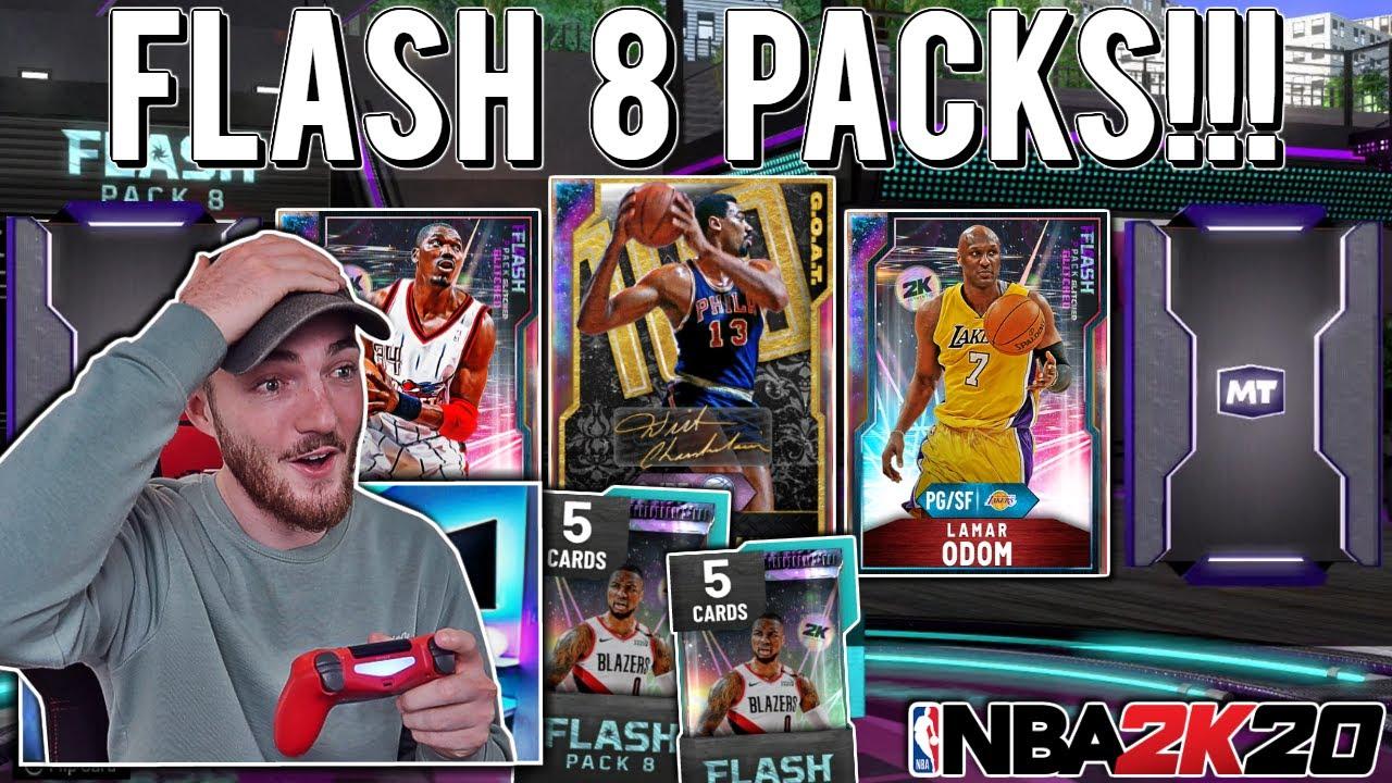 G.O.A.T GALAXY OPAL WILT CHAMBERLAIN PACK OPENING! 5 PULLABLE GALAXY OPALS! (NBA 2K20 MYTEAM)