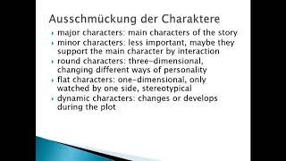 Englisch Charakterisierung Schreiben