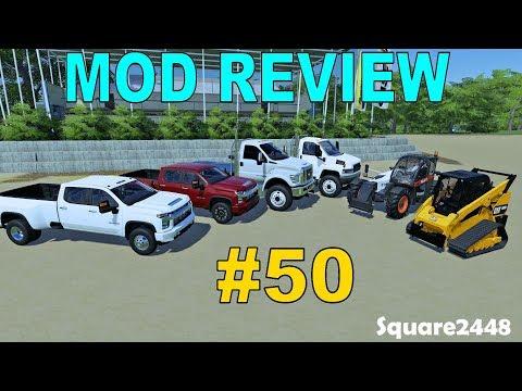 Farming Simulator Mod Review #50 2020 Silverados, Cat Skidsteer, Flatbed Trucks & Bobcat Telehandler