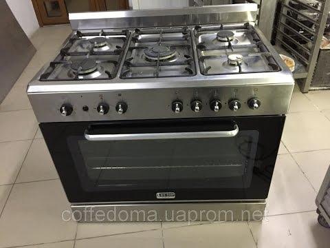 Big Chef профессиональная Газовая плита изтнержавеющей стали на 5 конфорок