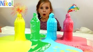 Николь делает разноцветную пену !