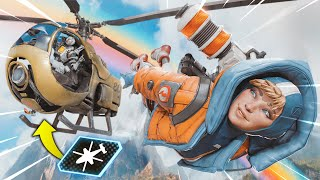 *NEW* HELICOPTER TROLLING PLAYERS!? | Best Apex Legends Funny Moments and Gameplay - Ep. 214
