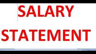 HOW TO MAKE SALARY STATEMENT l Basic Salary l PF l ESI