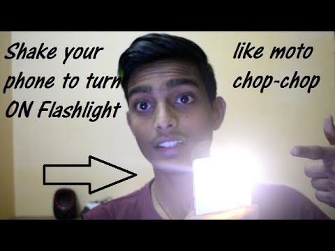 Chop-chop Flashlight In Any Android Phone By The Help Of App
